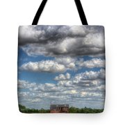 Grain Barn And Barley Field Tote Bag