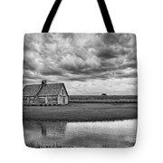 Grain Barn And Sky - Reflection Tote Bag