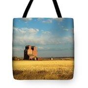 Grain Elevators Stand In A Prairie Tote Bag