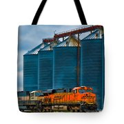 Grain Silos And Bnsf Train Tote Bag