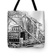 Grain Silos In Black And White Tote Bag