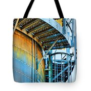 Grain Tower Stairs Tote Bag