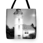 Grainy Lighthouse Tote Bag
