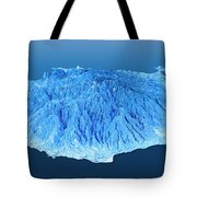 Gran Canaria Topographic Map 3d Landscape View Blue Color Tote Bag