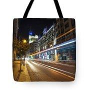 Gran Via Light Trails 1.0 Tote Bag