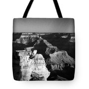 Grand Canyon Black And White Tote Bag