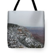 Grand Canyon In Snow Tote Bag