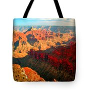 Grand Canyon National Park Sunset On North Rim Tote Bag