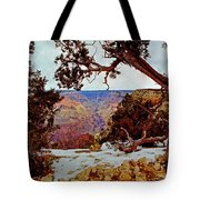 Grand Canyon National Park - Winter On South Rim Tote Bag