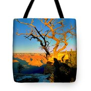 Grand Canyon National Park Winter Sunrise On South Rim Tote Bag