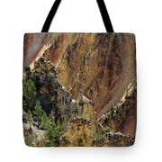 Grand Canyon Of The Yellowstone From North Rim Drive Tote Bag