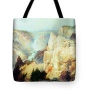 Grand Canyon Of The Yellowstone Park Tote Bag by Thomas Moran