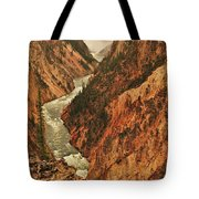 Grand Canyon Of The Yellowstone Vertical Panorama Tote Bag