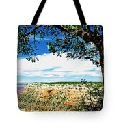 Grand Canyon View From South Rim Overlook Tote Bag