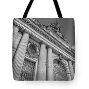 Grand Central Terminal - Chrysler Building Bw Tote Bag