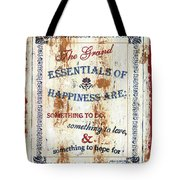 Grand Essentials Of Happiness Tote Bag