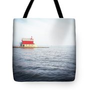 Grand Haven Lighthouse From North Pier Tote Bag