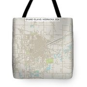 Grand Island Nebraska Us City Street Map Tote Bag