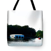 Grand Lake Boat Dock Tote Bag