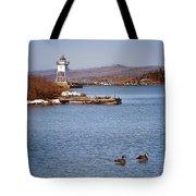 Grand Marais Breakwater Lights Tote Bag