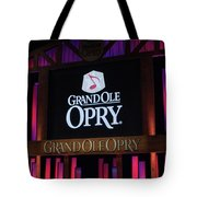 Grand Ole Opry House In Nashville, Tennessee. Tote Bag