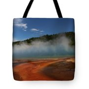 Grand Prismatic Spring At Yellowstone's Midway Geyser Basin Tote Bag