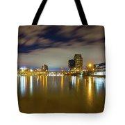Grand Rapids At Night Tote Bag