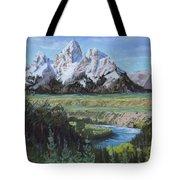 Grand Teton And Snake River Tote Bag