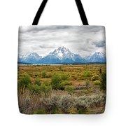Grand Teton Mountains Panorama Tote Bag