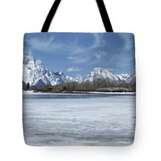 Grand Tetons And Snake River From Oxbow Bend 16-9 Tote Bag