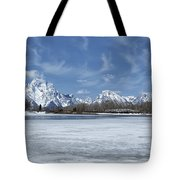 Grand Tetons And Snake River From Oxbow Bend Tote Bag