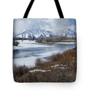 Grand Tetons From Oxbow Bend Tote Bag