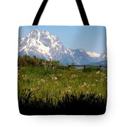 Grand Tetons Mtn M 1994 Tote Bag