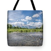 Grand Tetons On A Sunny Day Tote Bag by Margaret Pitcher