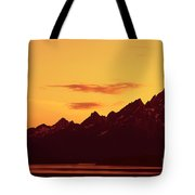Grand Tetons Sunset Tote Bag