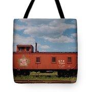 Grand Trunk Railroad Wood Caboose Tote Bag