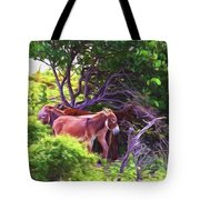 Grand Turk Donkeys In The Shade Tote Bag