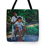 Grandfather And Child Tote Bag