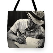 Grandfather's Straw Hat .2015 Tote Bag