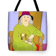 Grandma And Puppy Tote Bag