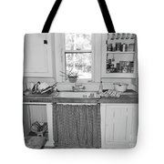 Grandma's Kitchen B W Tote Bag