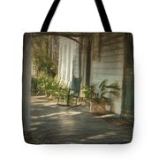 Grandmas Porch Drawing Tote Bag