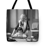 Grandmother And Granddaughter Baking Tote Bag