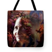 Grandmother Crow Tote Bag