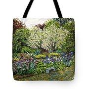 Grandmother's Garden Spring Blossoms Tote Bag