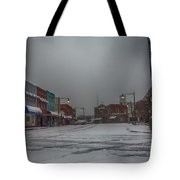 Granite Falls Snow Tote Bag