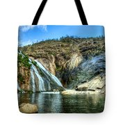 Granite Mountain Waterfall Panorama Tote Bag