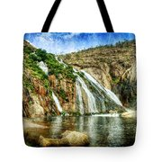 Granite Mountain Waterfall - Vintage Version Tote Bag