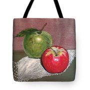 Granny Smith With Pink Lady Tote Bag