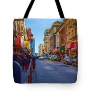 Grant Street In Chinatown Tote Bag